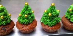 Weihnachtscupcakes