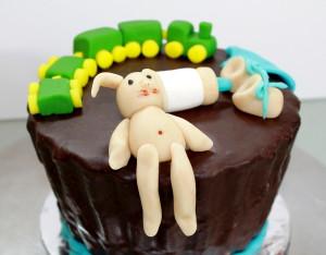 Babyshower Kleine Torte & Cakepops