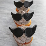 Orange Mini-Cupcakes mit Moustache
