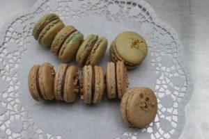 Macarons mit Schokolade